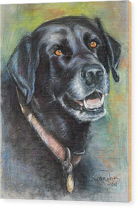 Lily- Black Labrador Retriever Wood Print