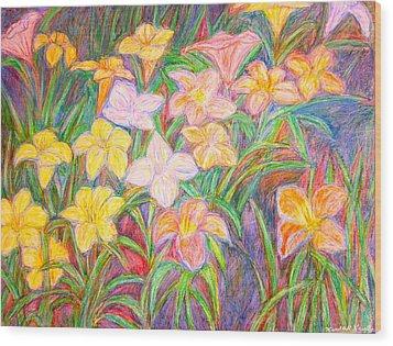 Lily Glow Wood Print by Kendall Kessler