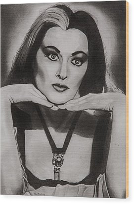 Lily Munster Wood Print by Brian Broadway