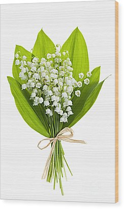 Lily-of-the-valley Bouquet Wood Print by Elena Elisseeva