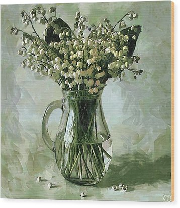 Lily Of The Valley Wood Print by Vasiliy Agapov