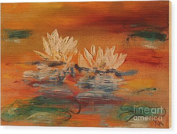 Lily Pad Wood Print by PainterArtist FIN