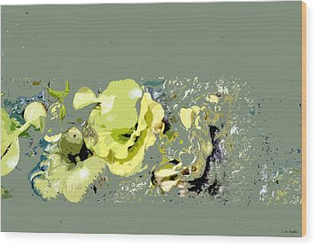 Wood Print featuring the digital art Lily Pads - Deconstructed by Lauren Radke
