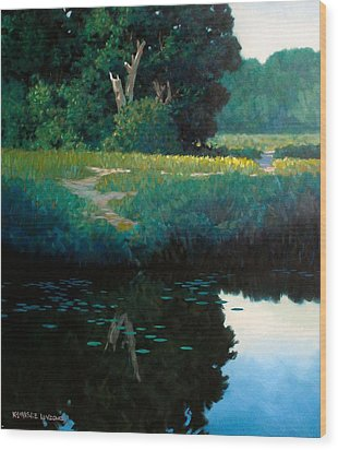 Lily Pads Wood Print by Kevin Lawrence Leveque
