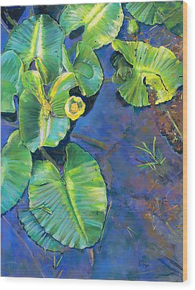 Lily Pads Wood Print by Nick Payne