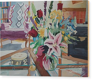 Lily Still Life Wood Print by Terry Holliday