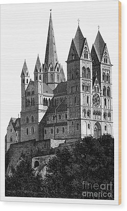 Limburg Cathedral Beautiful Detailed Woodblock Print Wood Print by Christos Georghiou