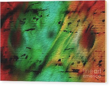 Wood Print featuring the digital art Lime And Orange Counterpoint by Lon Chaffin
