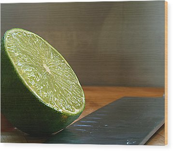 Wood Print featuring the photograph Lime Blade by Joe Schofield