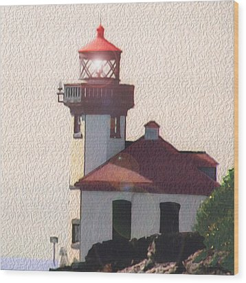 Lime Kiln Lighthouse Wood Print by John Hines
