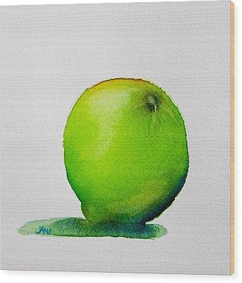 Lime Study Wood Print by Jani Freimann