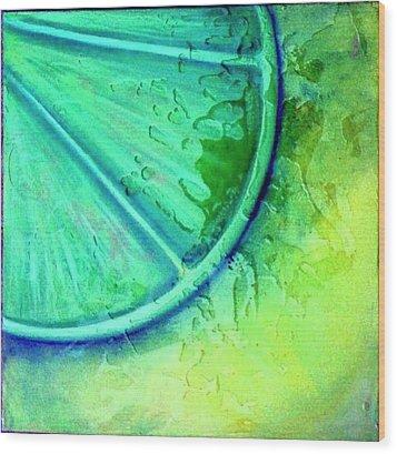 Lime Zest Wood Print by Debi Starr