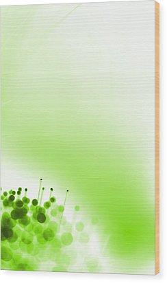 Limelight Wood Print by Dazzle Zazz
