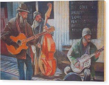 Wood Print featuring the painting Limerick  Milk Market by Paul Weerasekera