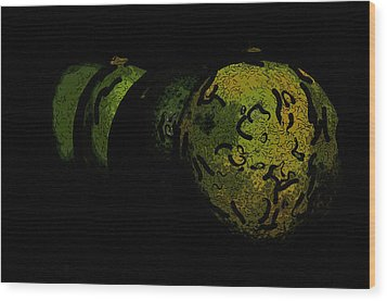 Limes Wood Print by Tommytechno Sweden