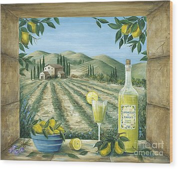 Limoncello Wood Print by Marilyn Dunlap