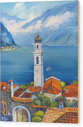 Limone-lago Di Garda Wood Print by Mikhail Zarovny