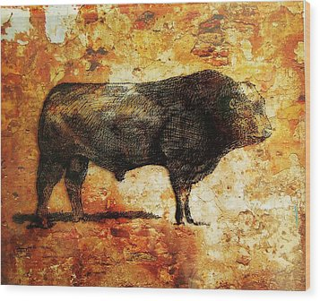 French Limousine Bull 10 Wood Print