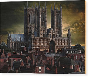 Lincoln Cathedral Wood Print by Martin Billings
