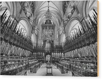 Lincoln Cathedral The Choir II Wood Print by Jack Torcello
