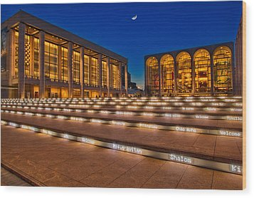 Lincoln Center Wood Print by Susan Candelario