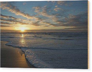 Lincoln City Beach Sunset Wood Print
