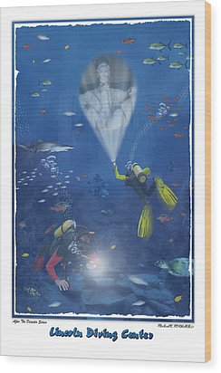 Lincoln Diving Center Wood Print by Mike McGlothlen