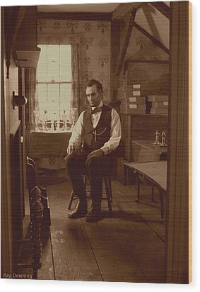Lincoln In The Attic Wood Print by Ray Downing