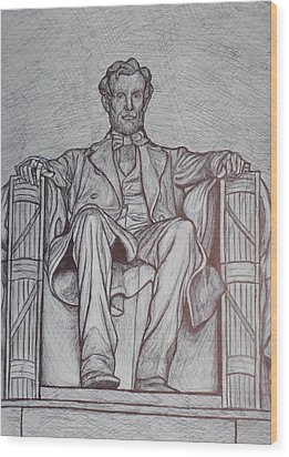 Lincoln Memorial Wood Print by Christy Saunders Church