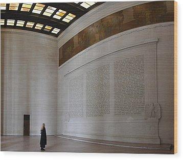 Lincoln Memorial - Washington Dc - 01132 Wood Print by DC Photographer