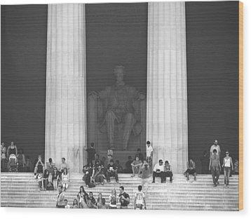 Lincoln Memorial - Washington Dc Wood Print