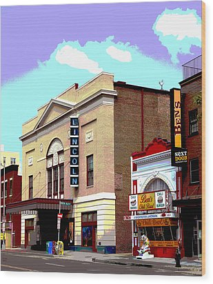 Lincoln Theatre Wood Print