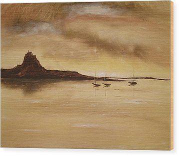 Lindisfarne Castle Holy Island England Wood Print