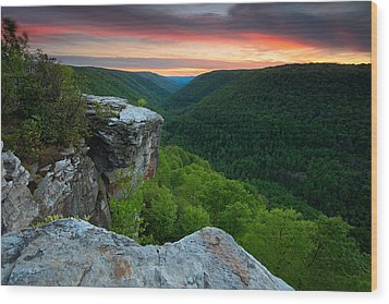 Lindy Point Sunset Wood Print