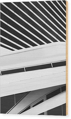 Line Form Wood Print by Jack Zulli