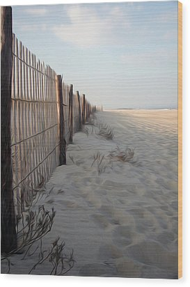Wood Print featuring the digital art Line In The Sand by Kelvin Booker