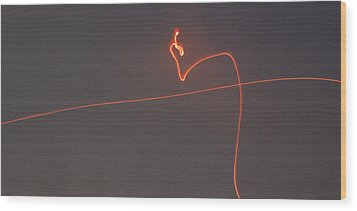 Linear Abstract Fireworks  Wood Print by Jani Freimann