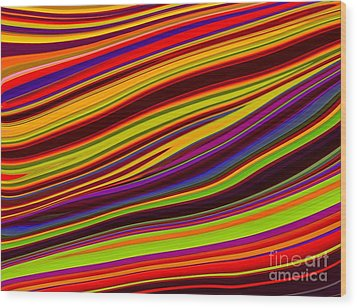 Linear Abstract Wood Print by Imani  Morales