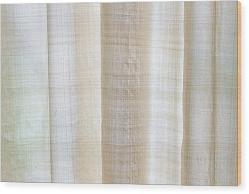 Linen Curtain Wood Print by Tom Gowanlock