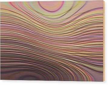 Lines And Circles -p08a Wood Print by Variance Collections
