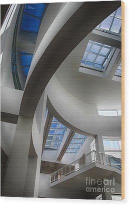 Lines And Curves Wood Print by Anne Rodkin