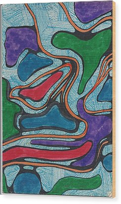 Lines In Abstract Wood Print by Cim Paddock
