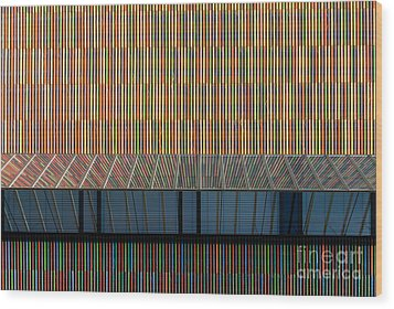 Lines - Pop Wood Print by Hannes Cmarits