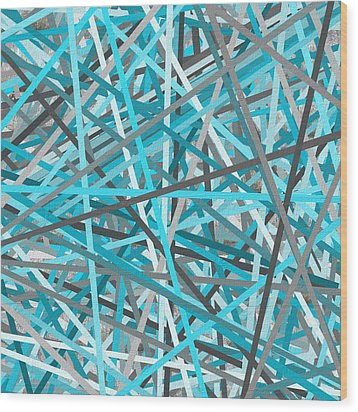 Link - Turquoise And Gray Abstract Wood Print