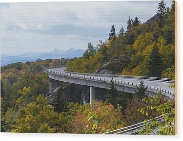 Wood Print featuring the photograph Linn Cove Viaduct by Gregg Southard
