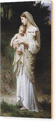 L'innocence By Bouguereau Wood Print