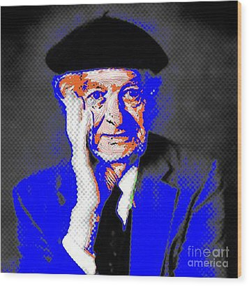 Linus Pauling Wood Print