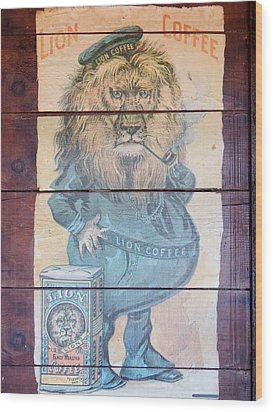 Lion Coffee Wood Print by Susan Ince