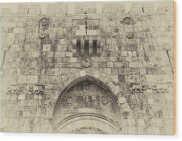 Lion Gate Jerusalem Old City Israel Wood Print