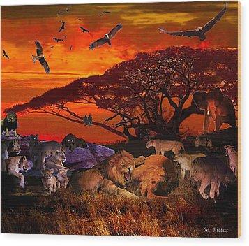 Lion Kill'98 Wood Print